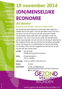 2014-11-19 BAARN_GVA_Ad Broere_een menselijke economie_Kanexia