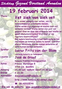 2014.02.19 BAARN_GVA_FritsvanderBlom_Vet ziek van ziek vet
