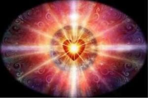 heart, stralend in roze rood