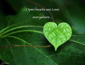 see hearts everywhere