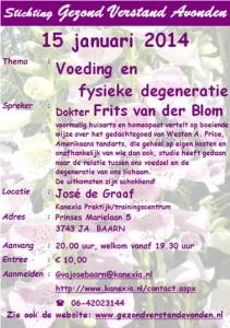 2014.01.15 GVA_BAARN_Frits van der Blom_Kanexia_Voeding en Fysieke degeneratie
